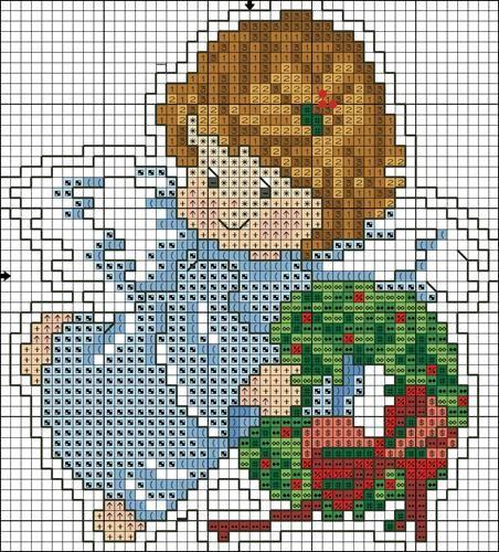 Christmas angel cross-stitch