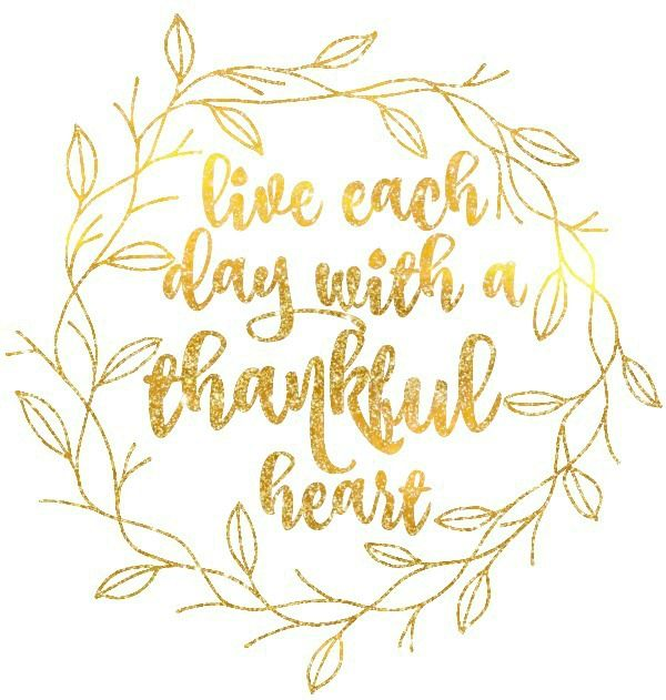 Live each day with a thankful heart
