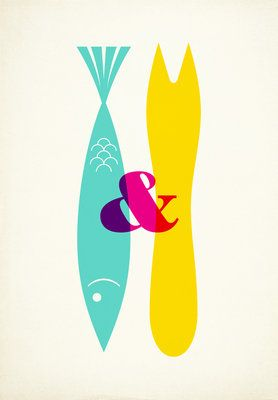 Just liked it! Not necessarily for us, maybe artwork in the shop? Fish and Chips by Frank Design @ East Ends prints