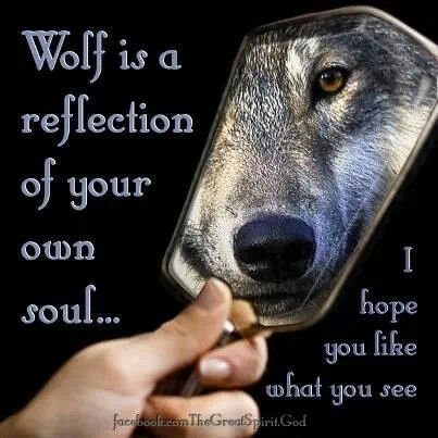 Sometimes I see the wolf in me, sometimes she hides...afraid of the world, sometimes she lunges-lashing out with teeth and claws. Other times she watches, waiting for your move. And once she truly trusts you....only then will she let you in.