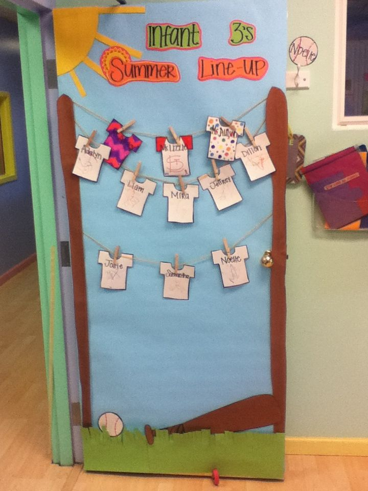 My Summer Classroom Door We Went With A Quot Line Up Quot Theme