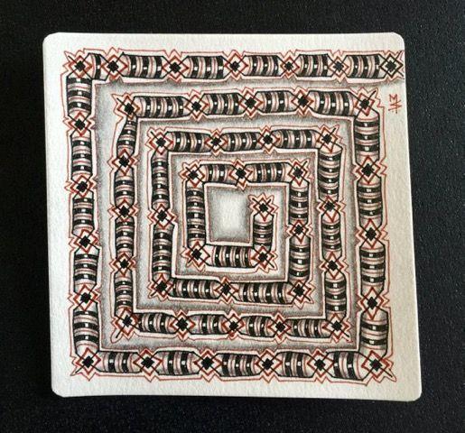 October 13th Zentangle Inspired art.