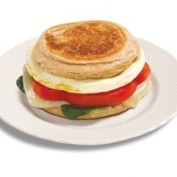 Spinach and Mozzarella Egg White Breakfast Sandwich so healthy. so easy. check them all out.