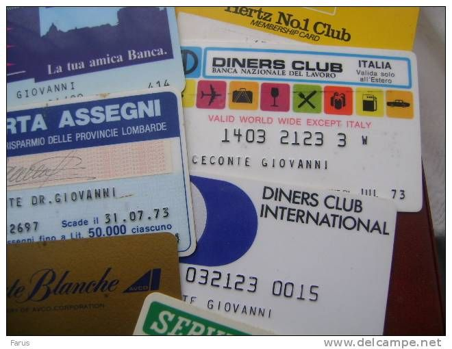 44 CARTE DI CREDITO Cards - Credit Cards (Exp. Date Min. 10 Years)