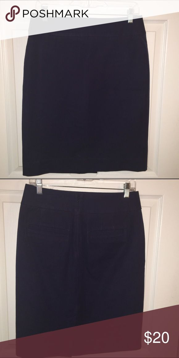 Banana Republic Navy Blue Pencil Skirt This is a dark navy blue pencil skirt from LOFT. The material is a stretchy cotton. Banana Republic Skirts Pencil