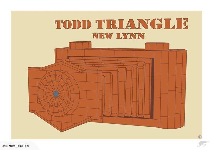 Framed A2 Digital Print - Todd Triangle New Lynn | Trade Me