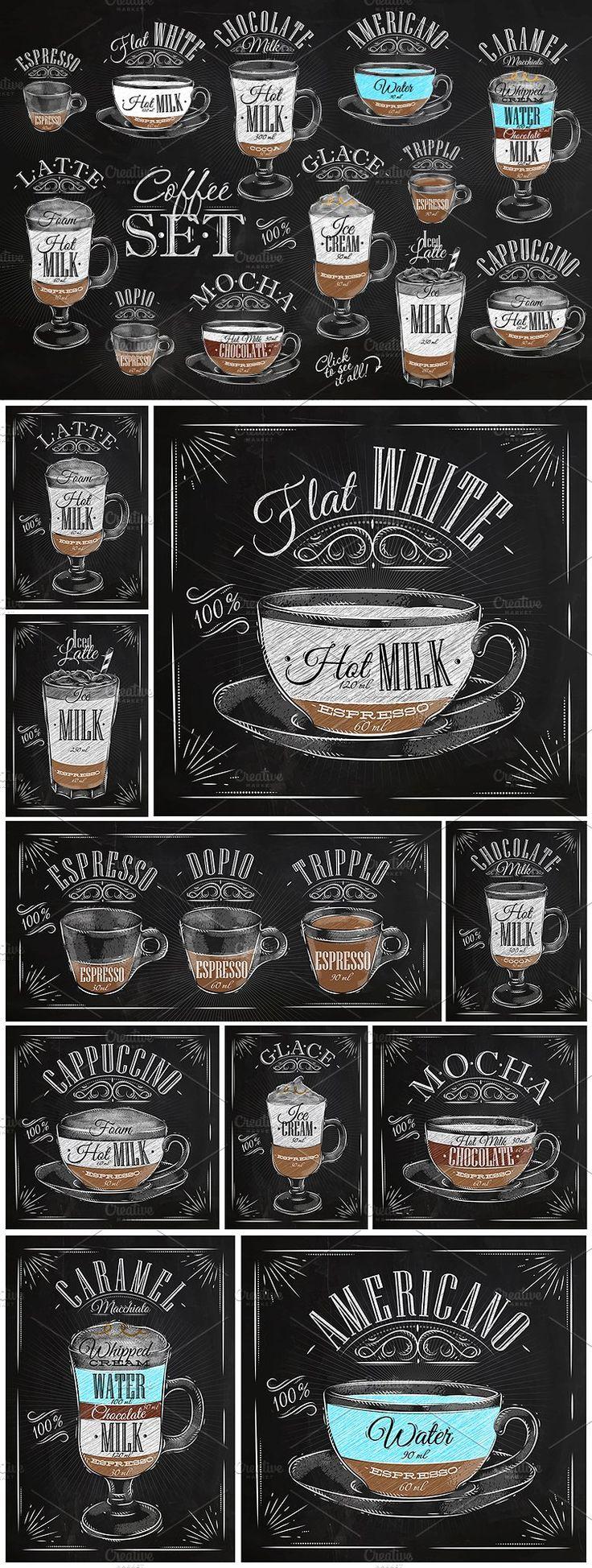 Set Coffee by anna42f on @creativemarket