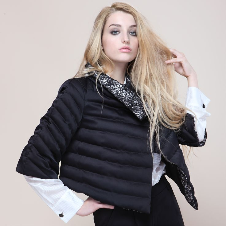 Black down  jacket Proudly Made in Italy