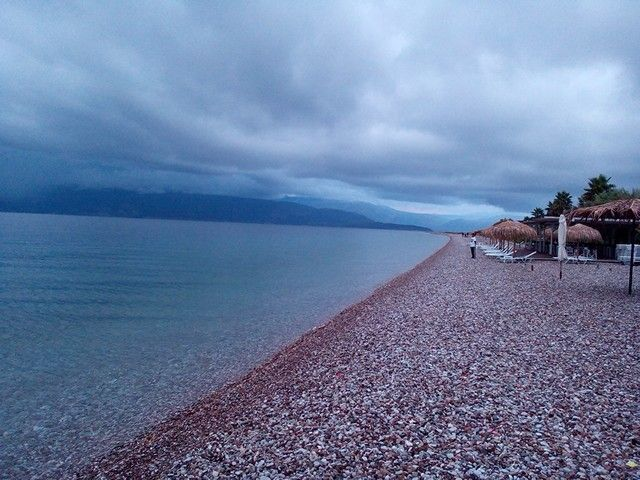 At the stony beach of Aigion - Achaia
