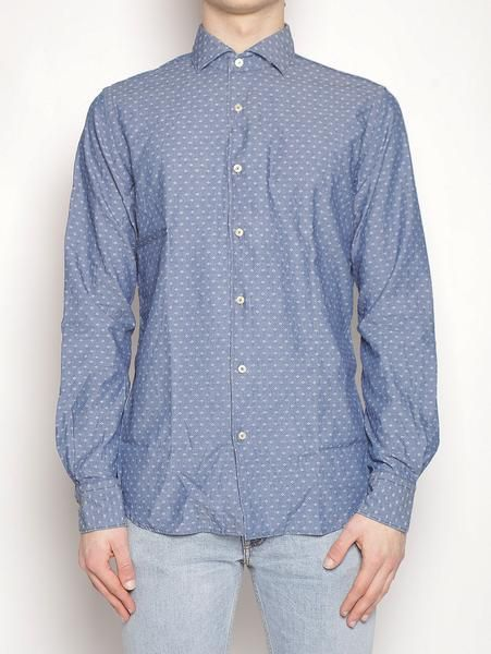 Camicia in cotone - 722ML 81419 Indigo