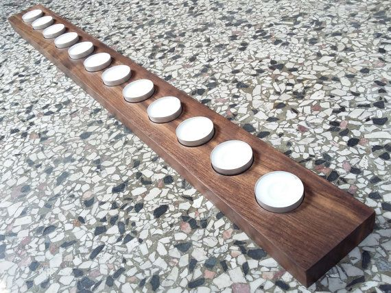 Handmade Rustic Tealight Holder Wooden Candleholder by WoodAllGood