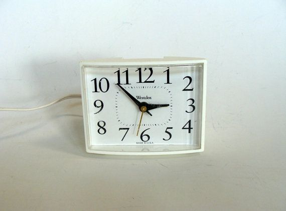 Westclox Electric Travel Alarm Clock White by browneyeddaisy,
