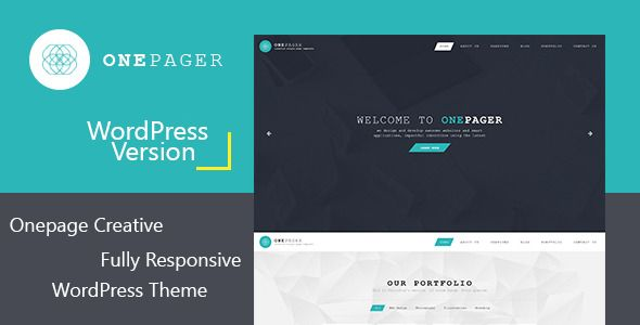 Onepager - Responsive One Page Wordpress Theme
