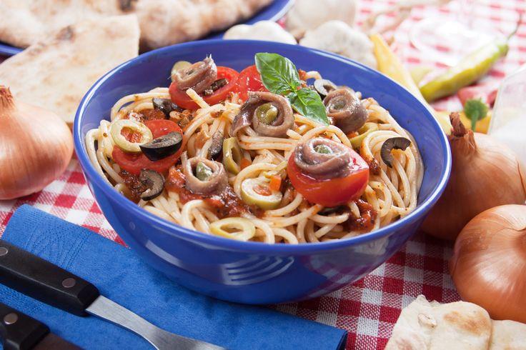 Cette recette est tellement bonne qu'on en mangerait deux fois par jour! #penneallaputtanesca