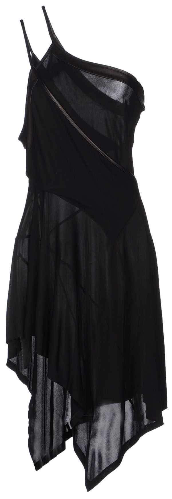 barbara bui short asymmetrical hemline black dress
