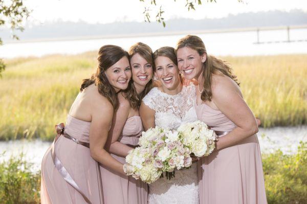 Blush Colored Bridesmaids Dresses | photography by http://www.ellisphotostudio.com