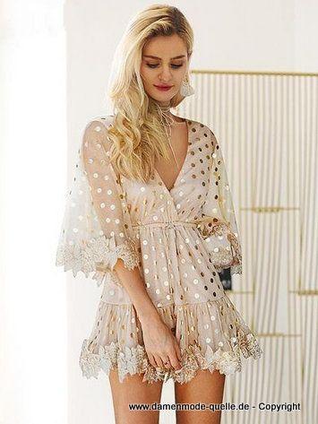 lacework pailletten kleid 2020   minikleid, damen mode