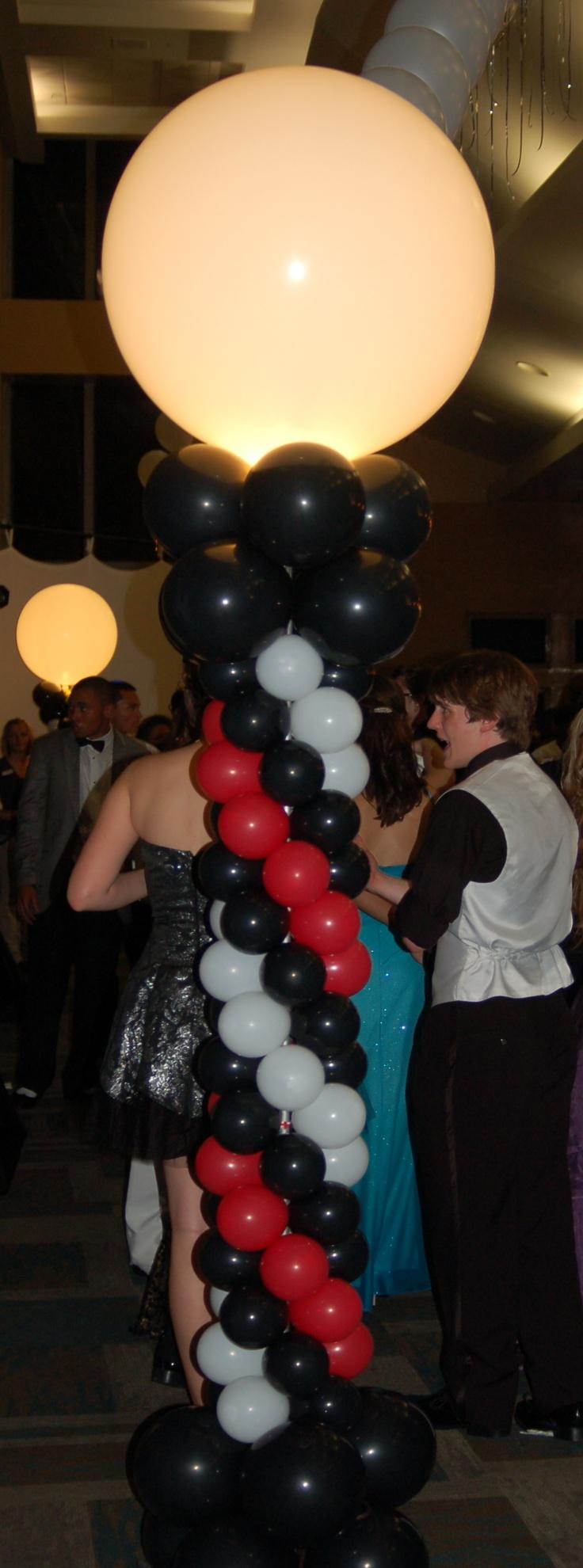 Lighted balloon column casino
