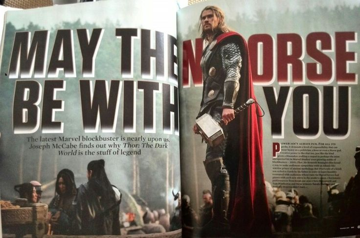Empire magazine- Thor typography and photography