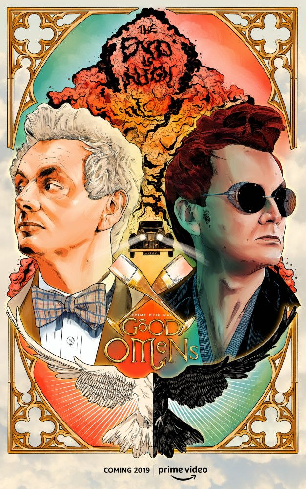 We're on Our Side – Good Omens Illustrated Poster – Netti