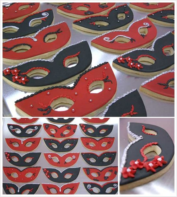 Sweet Sixteen Masquerade Party Favors   Cookies for a Sweet 16 Masquerade Ball!