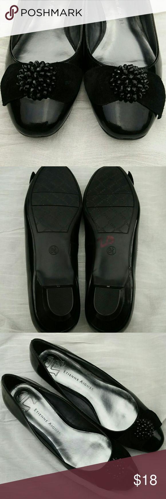 Etienne aigner black leather gloves - Etienne Aigner Flats Shoes