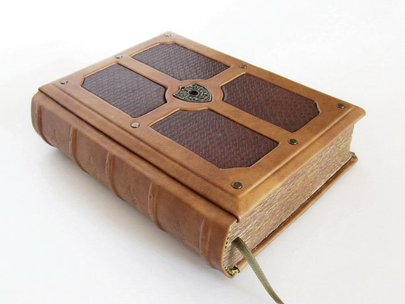 Brown leather journal antique style by dragosh on Etsy, $95.00