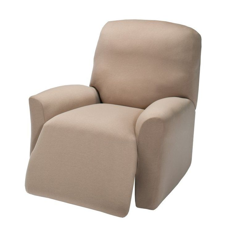 madison industries solid jersey recliner cover plus - Slip Covers For Chairs