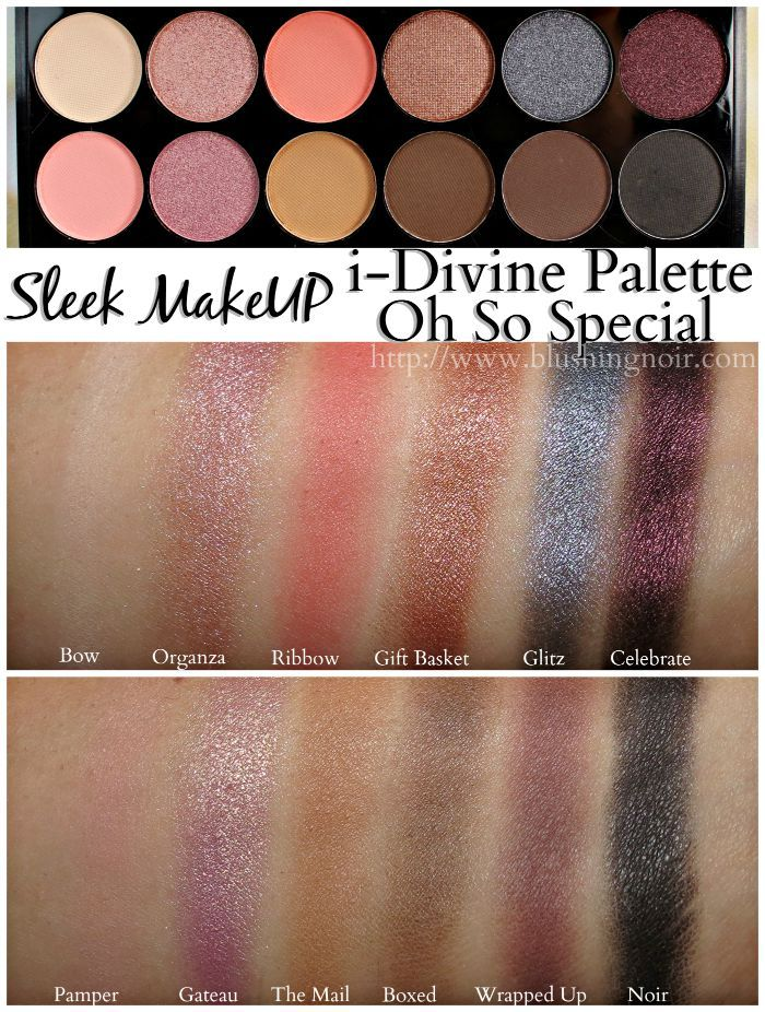 Sleek MakeUP Swatches, Review // i-Divine Oh So Special Eyeshadow Palette