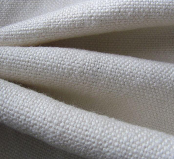 Grof linnen gordijnstof, gebroken wit