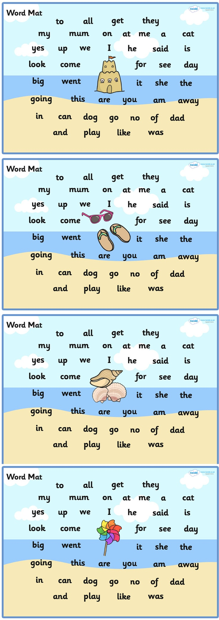 109 best seaside resources images on pinterest primary resources seaside themed fs2 word mats twinkl geenschuldenfo Gallery