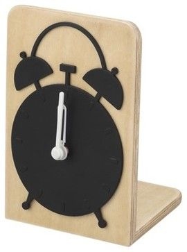 Bentwood Alarm Clock, Black - modern - clocks - Target