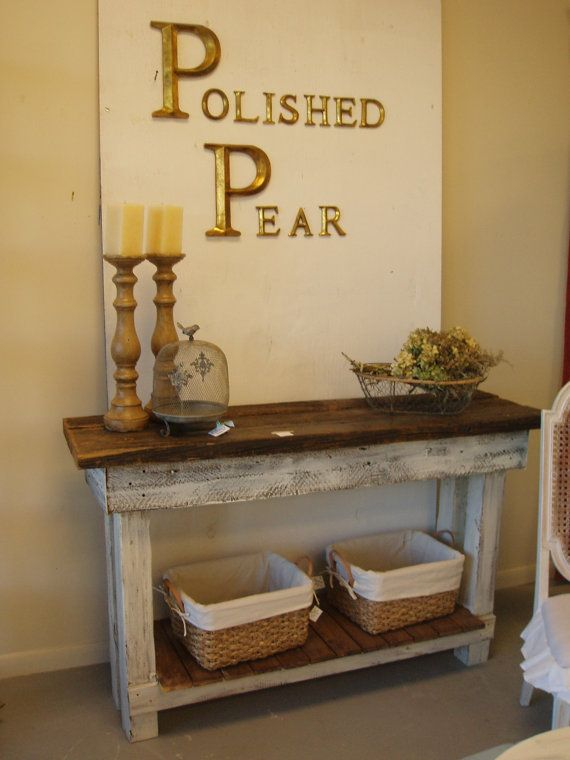 Shabby Chic Barnwood Table  FREE SHIPPING by ThePolishedPear, $545.00-gotta be a way to make this much cheaper