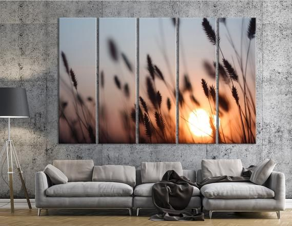 Summer Sunset Canvas Print Floral Wall Art Magical Sunset Photo Meadow Wall Art Summer Vibes Art Wild Nature Art Field Wall Art Floral Wall Art Sunset Canvas Vibes Art