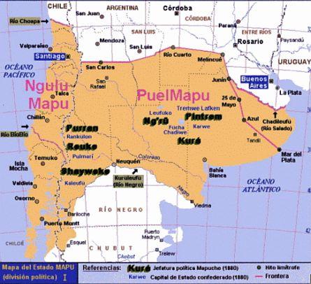 Wallmapu /Territorio ancestral mapuche