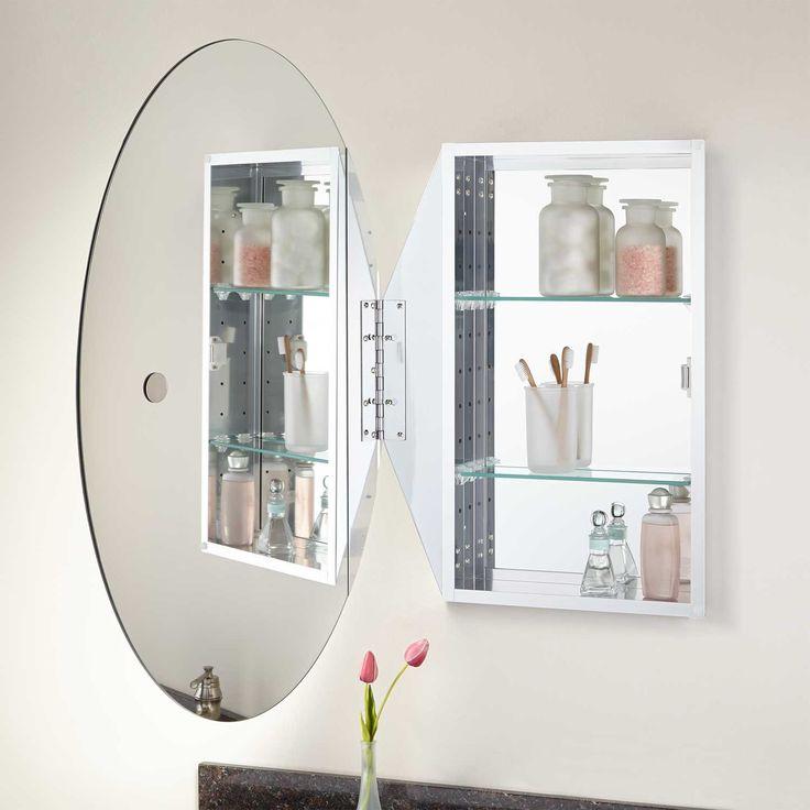 Linacre Recessed Mount Medicine Cabinet Round Mirror Bathroom Bathroom Medicine Cabinet Mirror Medicine Cabinet Mirror