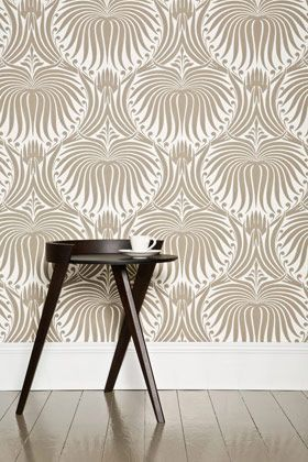 Art Deco Interior Design--This wallpaper is absolutely perfect.
