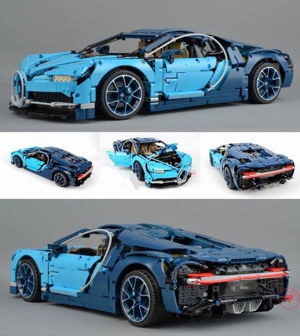 Technic Bugatti Chiron Blue Racing Car Blocks 42083 4031pcs Paidat Bugatti Chiron Bugatti Car Set
