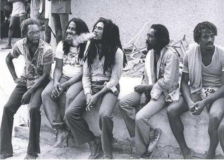BOB MARLEY in Kingston, '79, with JACOB MILLER, I JAH MAN and