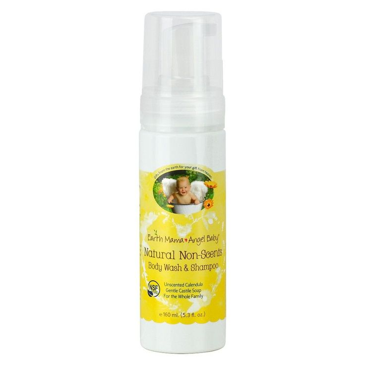 Earth Mama Angel Baby Natural Non-Scents Body Wash & Shampoo – 5.3oz