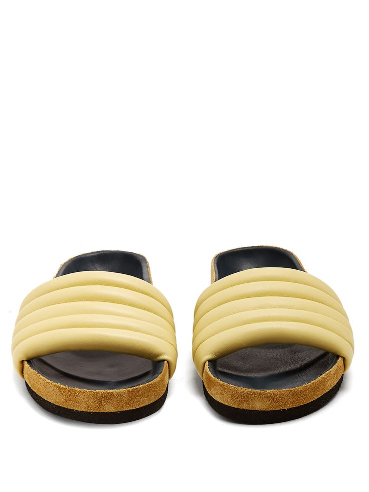 Click here to buy Isabel Marant Hellea quilted-leather slides at MATCHESFASHION.COM