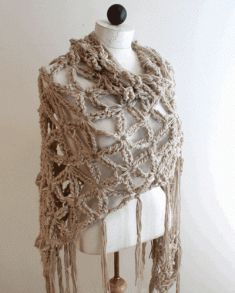 PS042 Everyday Shawls Crochet Pattern- http://www.maggiescrochet.com/everyday-shawls-pattern-p-1185.html#.UVrdz1eNpZ0 #crochet #pattern #shawl #chunky #comfort #style