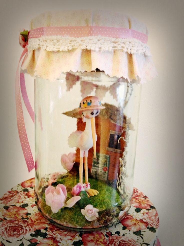 Kraam cadeau , nacht lampje By Handmade by Ana