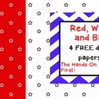 I hope you enjoy these four FREE stars and stripes themed digital papers! They would be perfect for government, President's Day, Election time, or ...