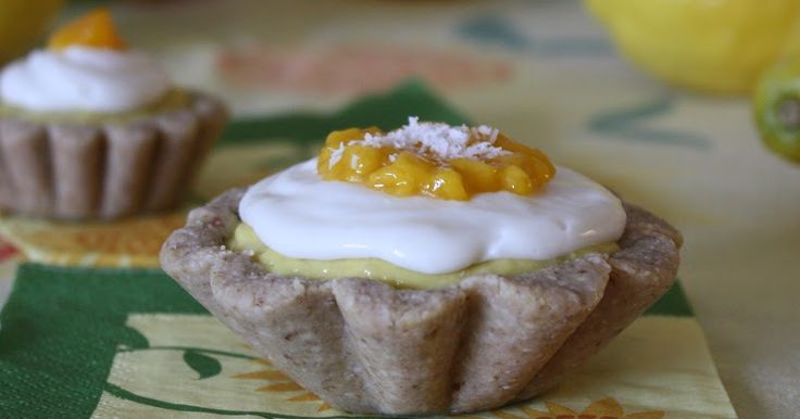 Nut Free Mango Mousse Tarts with Coconut Cream