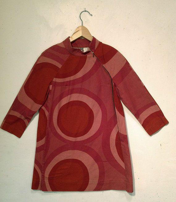 1967 Marimekko mini by designer Annika Rimala by AntikaTextiles