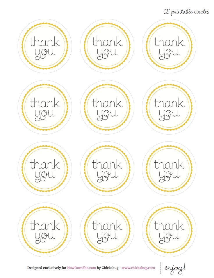printable thank you circle tags | Craft Ideas | Pinterest