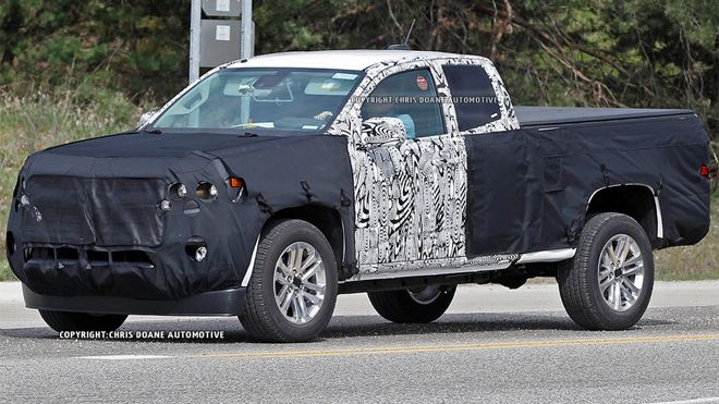 A prototype of the upcoming replacement for the Colorado small pickup was recently spotted on a test drive sporting an updated look from the existing foreign-markets truck that it's based on.