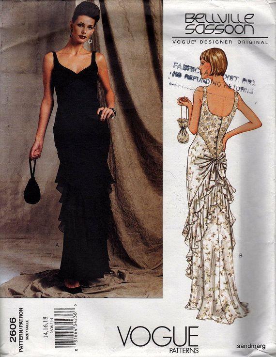 Vogue Designer Original Sewing Pattern Bellville Sassoon Dress