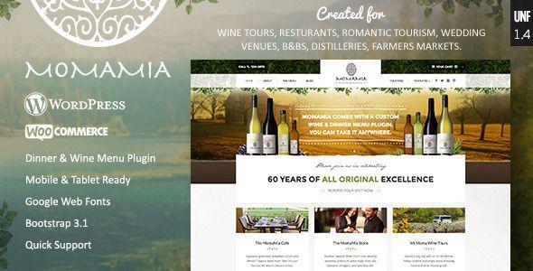 Momamia Restaurant & Winery WooCommerce WP Theme